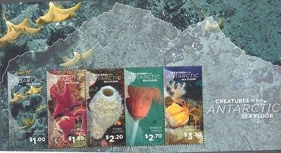 Ross Dependency-Creatures of the Sea Floor-Marine life 2016 min sheet mnh-unm