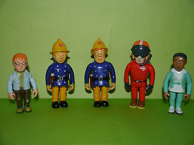 Fireman Sam Figures ~ Sam,Penny,Tom,Norman,Helen ~ Large and Movable ~ NEW