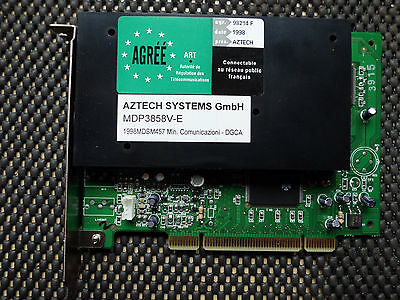 Aztech MDP3858V-E Modem | Internal Pci Card | Tested + Free delivery