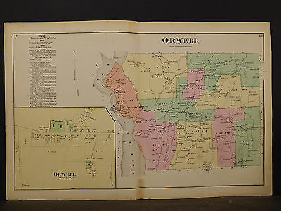 Vermont, Addison County Map, 1871, Orwell, Double Page, Y4#72