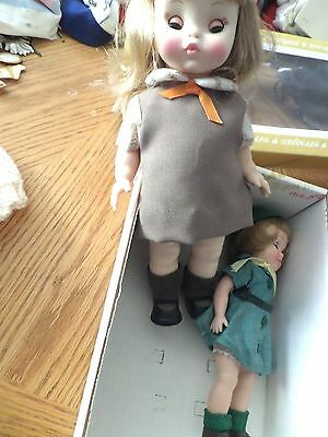 2  VINTAGE  Effanbee Official Girl Scout 8 1/2 BROWNIE DOLL 11 IN TALL
