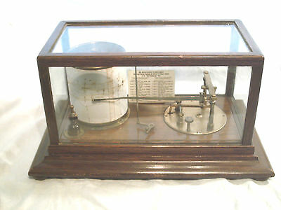 Rare Antique Wooden Cased Barograph