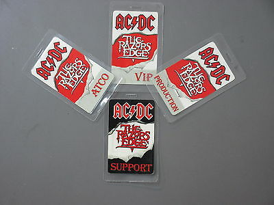 AC/DC backstage passes Laminated 4 from Razor's Edge Atco VIP Support Productio!