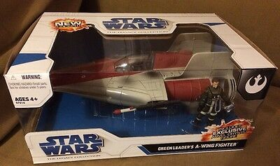 Hasbro Star Wars The Legacy Green Leaders A Wing Fighter 2008 Mint Boxed