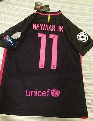 Fc barcelona Neymar JR 2016-2017 Away Kit Champions League Patches