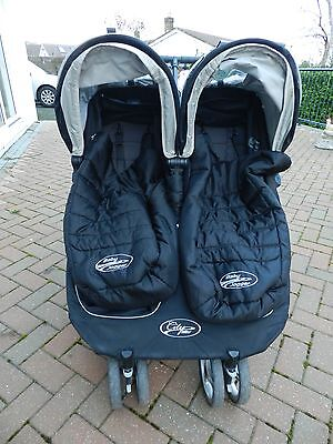 Baby City Mini Black Jogger Double Seat Stroller