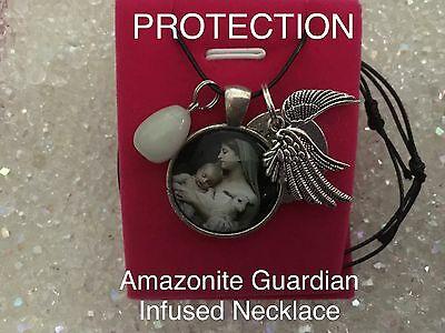 00045 PROTECTION Amazonite Guardian Infused Necklace Archangel Doreen Virtue