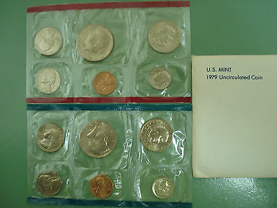 1979 P and D  U.S. Mint Uncirculated  Coin Set 12 BU Coins