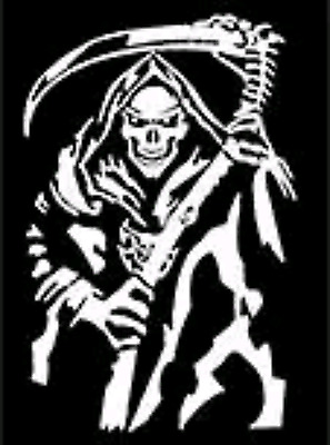 """Holy Death 8/"""" Decal SILVER ***FREE SHIPPING*** Santa Muerte"""