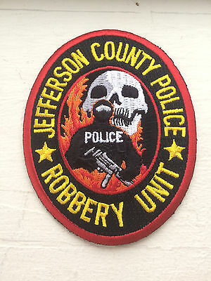 Jefferson County Police Department Robbery Unit Patch.