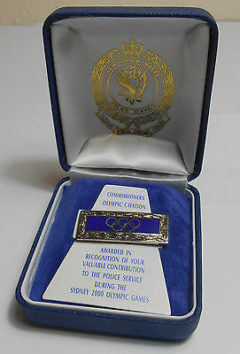 Olympic Games Citation Pin Badge Nsw Police Sydney 2000 Olympics Australia Cased