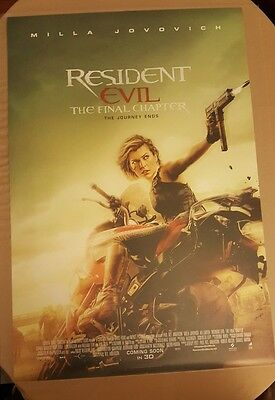 Resident Evil The Final Chapter UK Cinema One Sheet Movie Poster