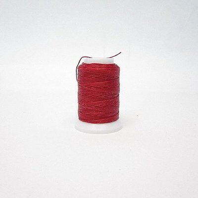SEIWA W Waxing Sawing Thread #0 50m Red Polyester Leather Craft Tool New
