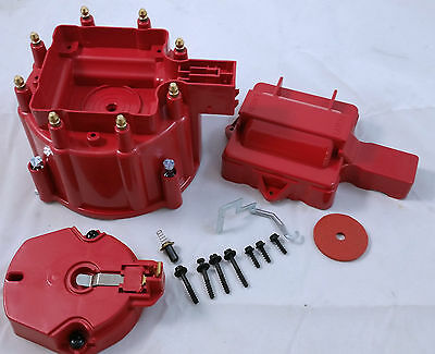 Chevy Pontiac Buick Oldsmobile GM V8 HEI Performane Distributor Cap & Rotor Kit