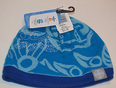 Vancouver Olympics 2010 Touque Blue Stylized NWT FREE SHIPPING