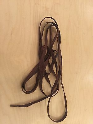 "ww2 shoe laces , 40"" new old stock, brown set of 2  pair"