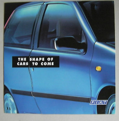 Fiat Punto 1994 Range Launch Car Brochure Open Door On Front Cover To See Inside