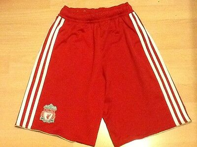 Liverpool Football Shorts - Red - Size 13/14 - Adidas.