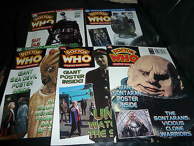 Doctor Who Poster Magazine x 5. Issues 1,2,3,4 and 6.
