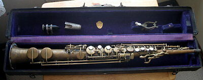 Vintage Soprano Maybe C G Conn Or Martin Saxophone In Martin Case
