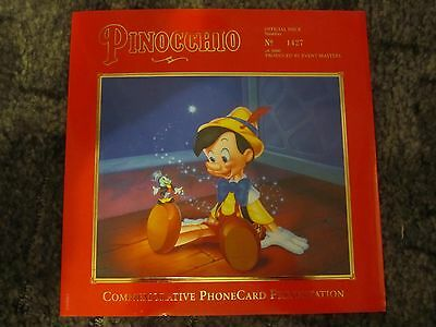 NZ-A109/10 Waltz Disney Pinocchio Commemorative Phonecard Presentation No 1427
