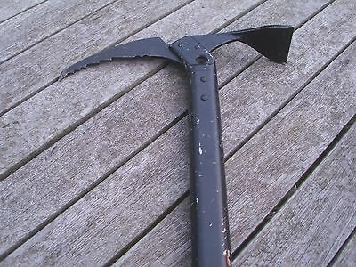 Ice Axe Black 70Cm Long Shaft Ex Military Issue Made For Uk Special Force Use