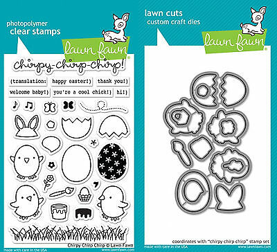 Lawn Fawn – Chirpy Chirp Chirp Stamp and Die Set