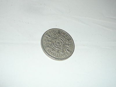 1958 Florin Two Shillings Queen Elizabeth II pound sterling coin MT