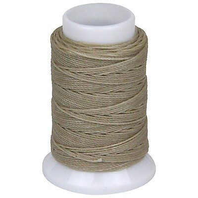 SEIWA W Waxing Sawing Thread #0 50m Beige Polyester Leather Craft Tool New