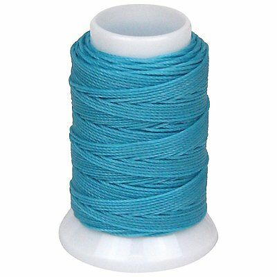 SEIWA W Waxing Sawing Thread #0 50m Sky Blue Polyester Leather Craft Tool New