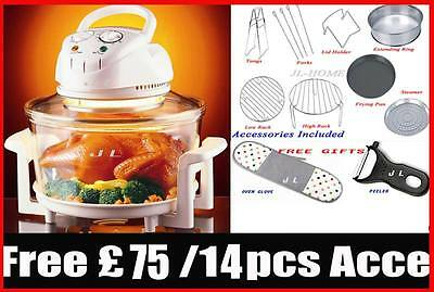 NEW ARRIVAL 12L Halogen Oven Cooker with Free 75 Pounds 14PCS GIFT