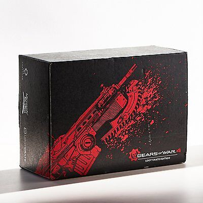 RARE Gears of War 4 Loot Crate Limited Edition Exclusive w/Unisex Size Large NEW