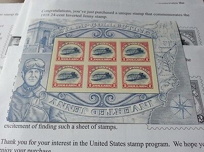 US Sc #4806 $2 Inverted Jenny Airplane Aircraft plane sheet of 6 MNH $12 face