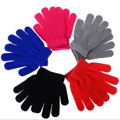 Children Kids Magic Glove Mitten Girl Boy Stretchy Knitted Winter Warm Glove New