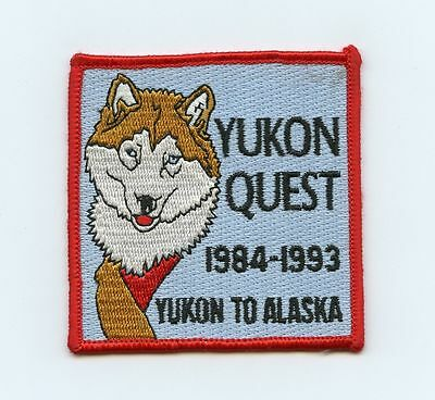 HTF 1993 Yukon Alaska Quest Dog Sled Race Patch Whitehorse, YT to Fairbanks, YT