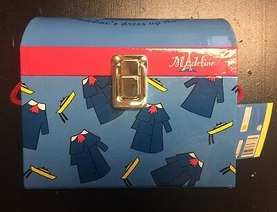"""Madeline Trunk With Dress Up Doll Clothes BRAND NEW & RARE! 15"""" Rag doll"""