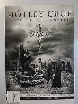 Motley Crue Poster for Saints of Los Angeles album  !