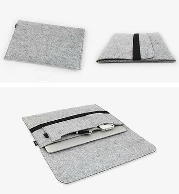 For Apple Mac MacBook Wool Felt Sleeve Laptop Case Cover Bag Air Pro 11/12/13/15