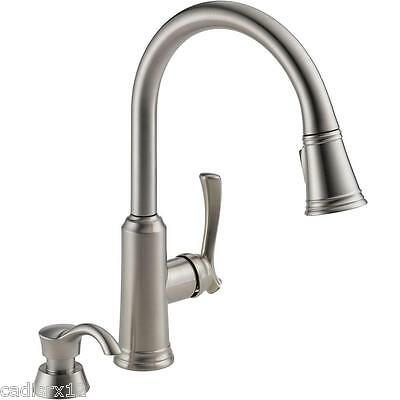 Delta Lakeview 19963-SSSD-DST Stainless Steel Kitchen Faucet Pull Down Sprayer