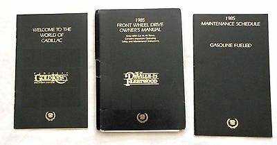 1985 Cadillac Deville And Fleetwood Owners Manual Original Gm