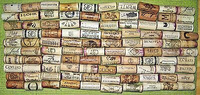 100 Natural Used Wine Corks, No Synthetic, No Champagne