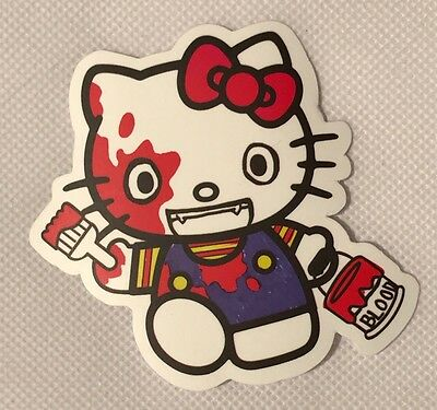 Bloody Hello Kitty Sticker - Excellent Condition - SHIPS FAST