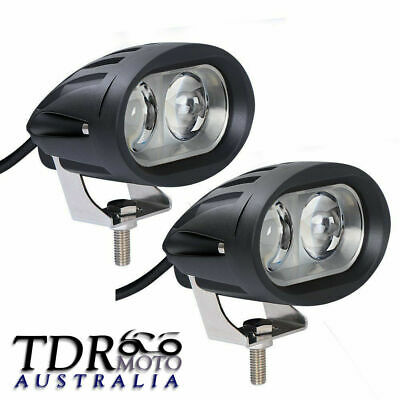 2x Oval 20W CREE LED Work Light Spot Fog Lamp 4WD SUV ATV Motorcycle Dirt Pit
