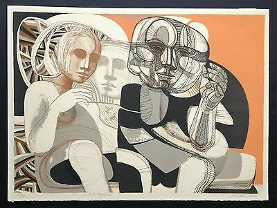 Arnold Belkin 1968 In Resplendent Places Canadian Mexican modernist litho print