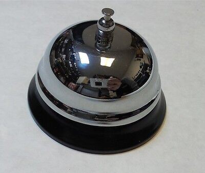 Lansky Office Supplies Chrome Service Bell with Black Base