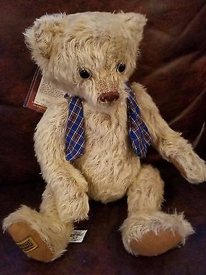 """Merrythought Musical Mohair Bear Limited Edition 106 of 500 16"""" made in England"""
