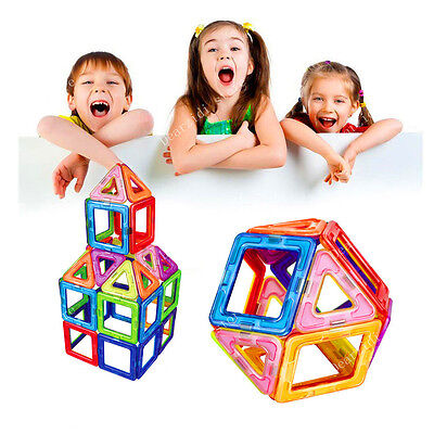 30pcs Magnetic Building Blocks Construction  Toys  Rainbow Color for Magformers