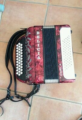 "ACCORDEON chromatique à boutons ""DELICIA"" 60 basses  parfait etat"