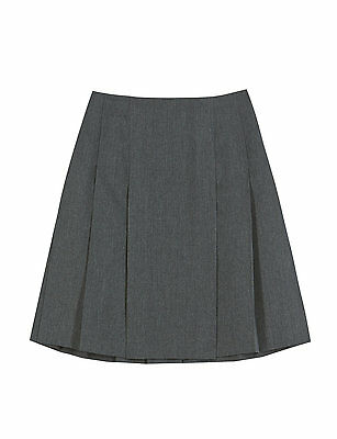 MARKS & SPENCER Crease Resistant Adjustable Waist SCHOOL Skirt lined BNWT 5-6 YR