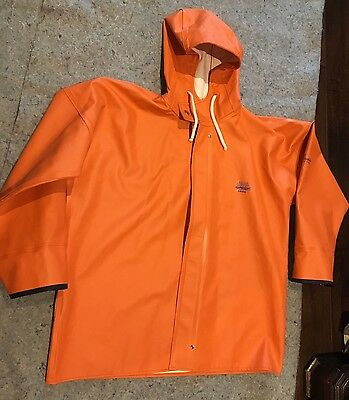 Grundens Brigg Rain Hooded Jacket Size Small Great Condition